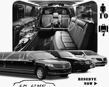 Stretch Limo airport shuttle in Chicago