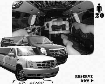 Cadillac Escalade 20 passenger SUV Limousine for rental in Chicago, IL